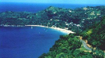 Castara auf Tobago direkt an der Karibik mit langem Sandstrand