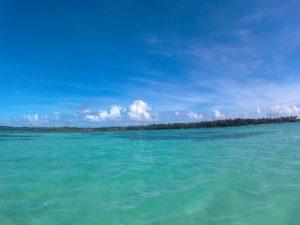 Buccoo Reef auf Tobago in Trinidad und Tobago mit Nylon Pool in der Karibik