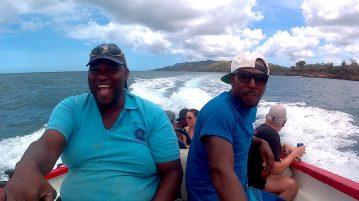 Bootstour mit Alibaba Tours von Castara nach No Mens Land und Bon Accord Lagoon mit Nylon Pool auf Tobago