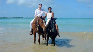 Hochzeit auf Tobago in der Karibik - erfüllen Sie sich den Traum von einer Hochzeit auf dem Rücken von Pferden am Traumstrand. Wir helfen mit einem Hochzeitsplaner und Weddingplanner auf Tobago bei der Organisation und Durchführung!