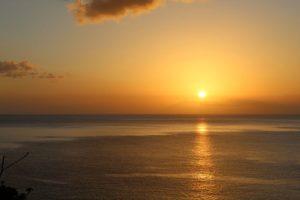 Sonnenuntergang auf Tobago in der Karibik