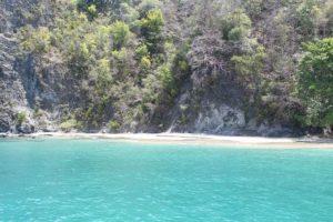 In der Cotton Bay auf Tobago in Trinidad und Tobago in der Karibik waren wir zum Schnorcheln mit dem Katamaran Pivante. ideal auch für Anfänger und zum Tauchen.