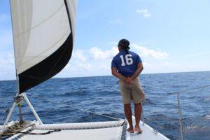 Neben Kapitän Markus Grundmann kümmert sich Marcellous um den Katamaran Picante auf Tobago in Trinidad und Tobago in der Karibik