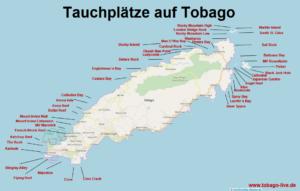 Tobago in Trinidad und Tobago bietet viele Tauchplätze. Anfänger und Fortgeschrittene PADI Taucher kommen in viele Spots auch bei Drifttauchen und Strömungstauchen auf ihre Kosten. Tobago-Live unterstützt bei der Urlaubsplanung für einen günstigen Tauchurlaub in der Karibik.